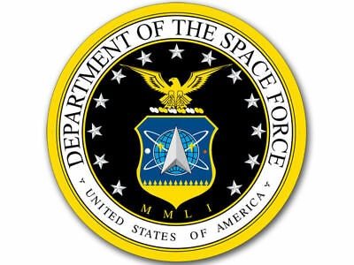 """United States Department Of Space Force 4"""" Window Sticker Car Decal Made In Usa"""