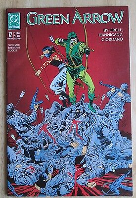 "DC Comics, ""Green Arrow"" 1988  # 12, Great Condition"