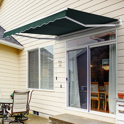 8u0027 X 7u0027 Outdoor Patio Manual Retractable Awning Window Sunshade Shelter