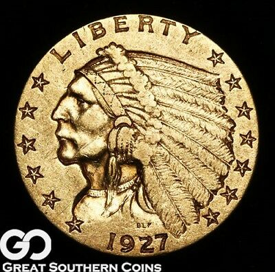 1927 Quarter Eagle, $2.5 Gold Indian ** Free Shipping!