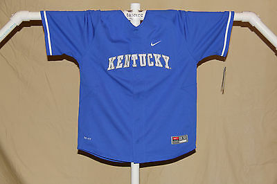 official photos cb7f4 95880 KENTUCKY WILDCATS NIKE Dri-Fit BASEBALL JERSEY Youth Large NWT $50 retail