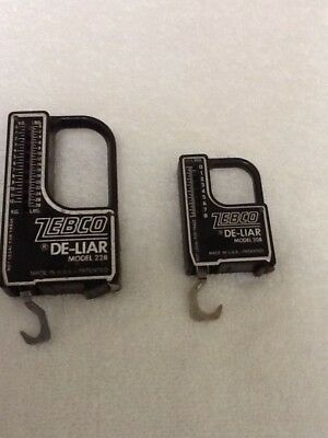 Vintage Zebco De-Liar Fishing Scale and Tape Measure Models 208 & 228
