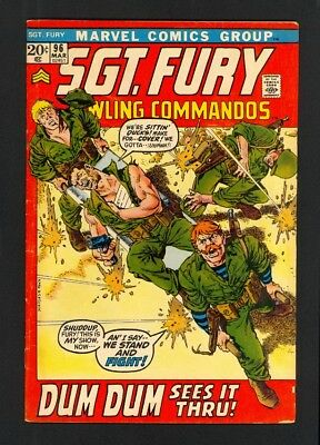 Sgt. Fury And His Howling Commandos #96 - Marvel (1972) - Fine+