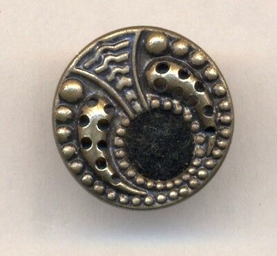 Small Antique PERFUME Button w/Velvet