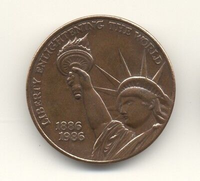 1886-1986 Statue of Liberty Centennial medal -- made from orig statue materials