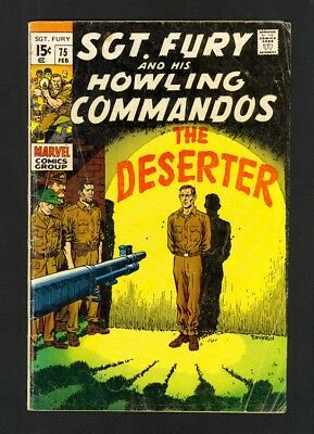 Sgt. Fury And His Howling Commandos #75 - Marvel (1970) - VG+
