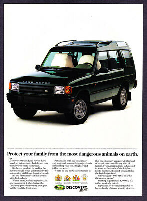 "1994 Land Rover Discovery 4x4 SUV photo ""Protect Your Family"" vintage print ad"