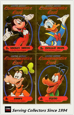 *1992 Australia Dynamic Disney Classics Commemorative Gold Card Set (4)-RARE