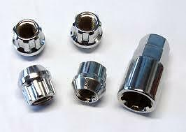 Ford Mondeo Locking Wheel Nuts M12x1.5mm Open End For Aftermarket Wheels