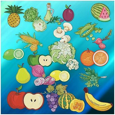 Fruit And Vegetables 21 10 Linework Machine Embroidery Designs Cd