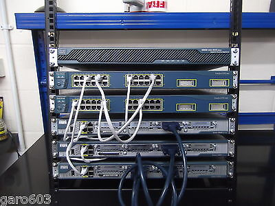 Cisco CCNA CCNP Security  LAB KIT 3 X 2801 IOS 15 + 2 X C3550  ASA5510 12U Rack