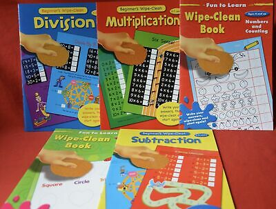 New Fun To Learn Wipe Clean First Learning Pre School Beginners Maths Shapes Al