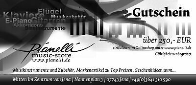 250 Eur Pianelli Voucher for Musical Instruments and Accessories Guitar Piano...