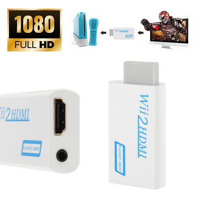 Wii to HDMI Wii2HDMI HD 1080P Converter Adapter 3.5mm Audio Output Jack AC1037
