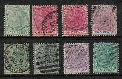 Nigeria stamps - Lagos issues - victoria 1870s/80s - good used /used