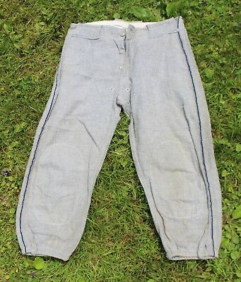 Vintage Boys Gray Baseball Uniform Pants