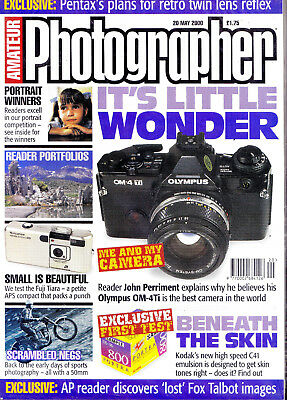 Amateur Photographer magazine with Olympus OM-4Ti  camera article  20th May 2000