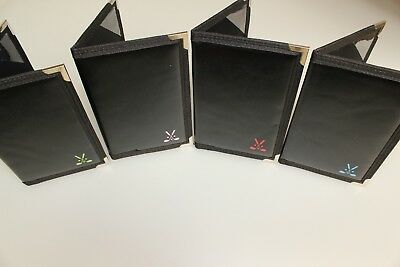 "Faux Leather Golf Scorecard Holder Black + Club Logo Pencil/Elastic 4 1/2"" x 7"""
