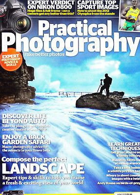 Practical  Photography magazine with   Nikon D800 on  test  ,  June   2012