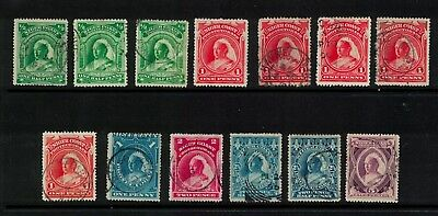 Nigeria stamps - Niger coast issues - victoria 1890s - good used /used HCV