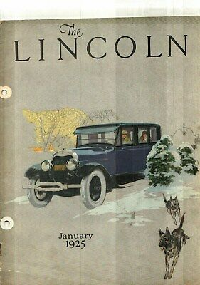 1925 The Lincoln Magazine - January
