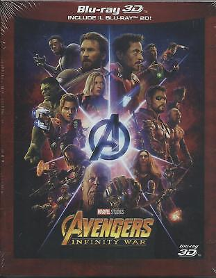 The Avengers. Infinity War 3D (2018) 2 Blu Ray slipcase dal 29/08/2018