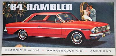1964 American Motors Rambler Car Advertising Sales Brochure Guide Vintage