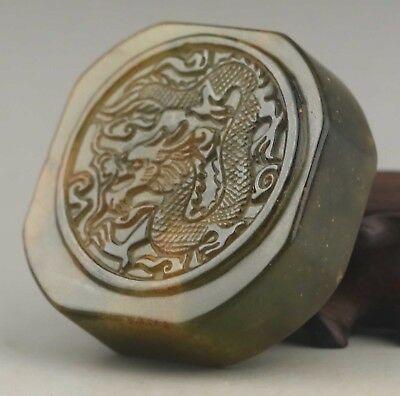 Chinese seals China natural jade hand-carved dragon seal old statue