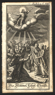 1747 Full Page Miniature of The Ascension of Jesus Christ New Testament Bible