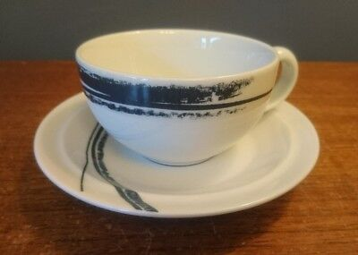 Denby Pottery Urban Pattern Cup and Saucer Set