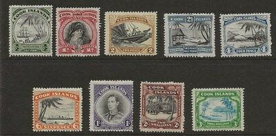 Cook Islands  Sg 137/45  1944/6 Gvi Set Of 9   Fine Mounted Mint