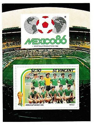 Mexico 86 World Cup Unused/uncut Football Stamp>Mexico Team Group