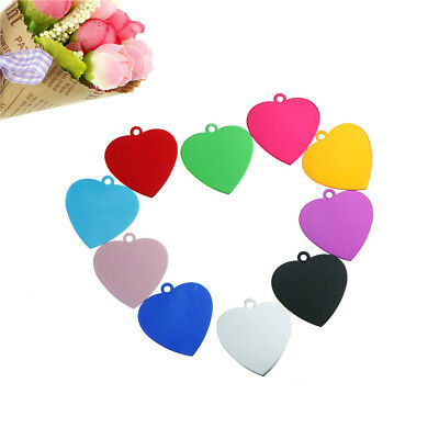 heart shape dog id tags  cat pet name phone collar tag TOCA