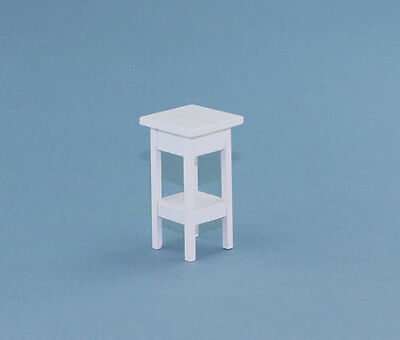 1:12 Scale Dollhouse Miniature White Wooden Accent Table Plant Stand #D2318-12