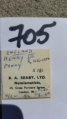Lot 705 Great Britain Henry III Penny 1256 1272 Purchased 4/72