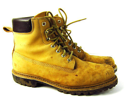 723bcc43a539 Vintage Sears Die Hard Work Boots Mens 12 D Vibram Sole Tan Leather Lining