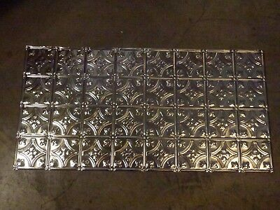 6-09 Victorian Design (10) TEN 2' x 4' Tin Plated Steel Sheets. WoW!