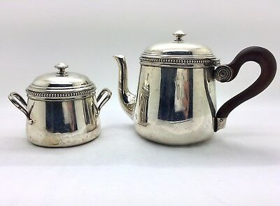Emile Puiforcat French Sterling Silver Pot with Covered Sugar Bowl