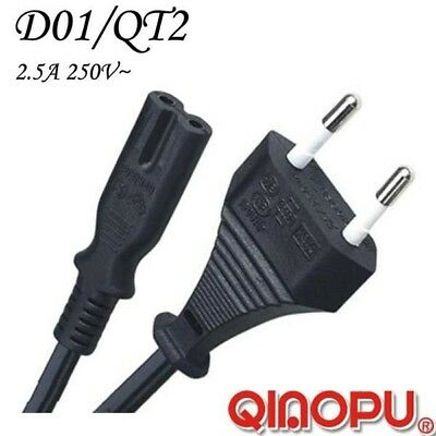 2 Prong AC Power Cord 2 Pin Adapter Cable For Laptop EU European