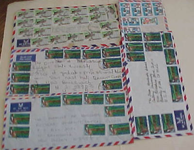 NIGERIA   10 or MORE STAMPS ON EACH OF 5 COVERS
