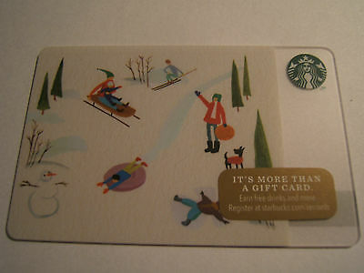 Starbucks Gift Card: 2014 Holiday Sledding  Limited Edition Collectible
