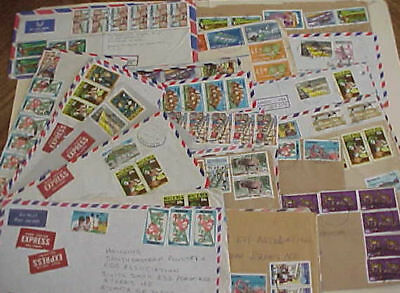Nigeria 16 Registered Covers, 13 Express Mostly To Usa