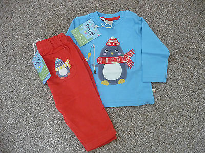 Frugi Organic Cotton New Outfit 3-6 months £40 John Lewis Baby Boy Top Trousers