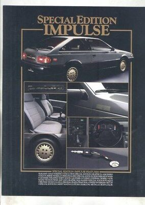 1987 Isuzu US Impulse Special Edition Brochure wz4227