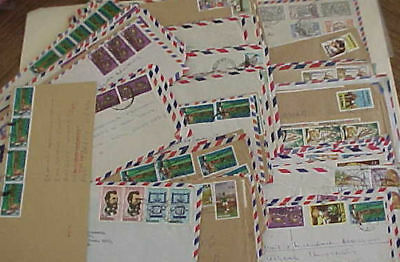 NIGERIA  COMMEMORATIVE on 100 COVERS MOSTLY TO USA  INCLUDES REGISTERED,EXPRESS
