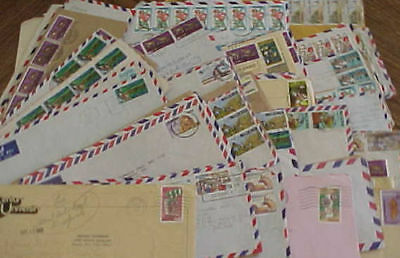 NIGERIA  COMMEMORATIVE on 99 COVERS MOSTLY TO USA  INCLUDES REGISTERED,EXPRESS