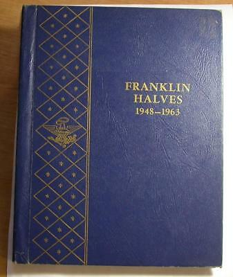 Franklin Set 1948-1963 (35) 90% Silver Coins Complete In Whitman Album #M430