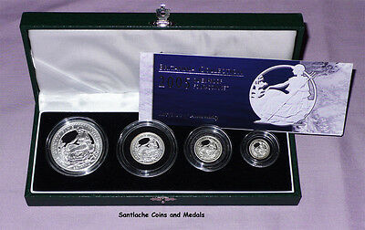 2005 Royal Mint Silver Proof Britannia Four Coin Collection