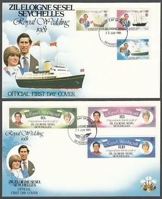 Zil Eloigne Sesel, 1981 Royal Wedding First Day Covers