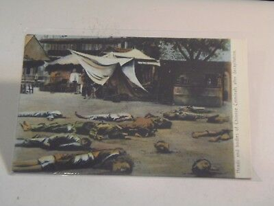 Heads and Bodies of Chinese Criminals after Decapitation, China Postcard,  SZ25